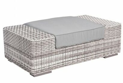 Imprint Ottoman with Cushion Fabric: Paris Honeydew