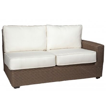 Augusta Right Arm Facing Loveseat Sectional with Cushions Fabric: Bazaar Cafe