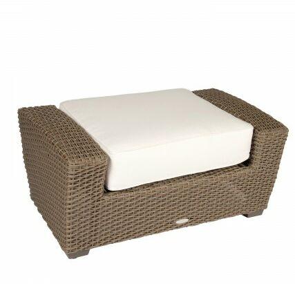 Augusta Ottoman with Cushion Fabric: Brisa Distressed Dove Gray