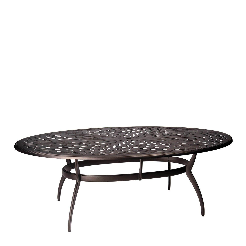 Apollo Oval Umbrella Dining Table Frame Color: Textured Black
