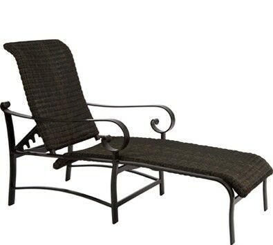 Belden Woven Adjustable Chaise Lounge Frame Color: Textured Black