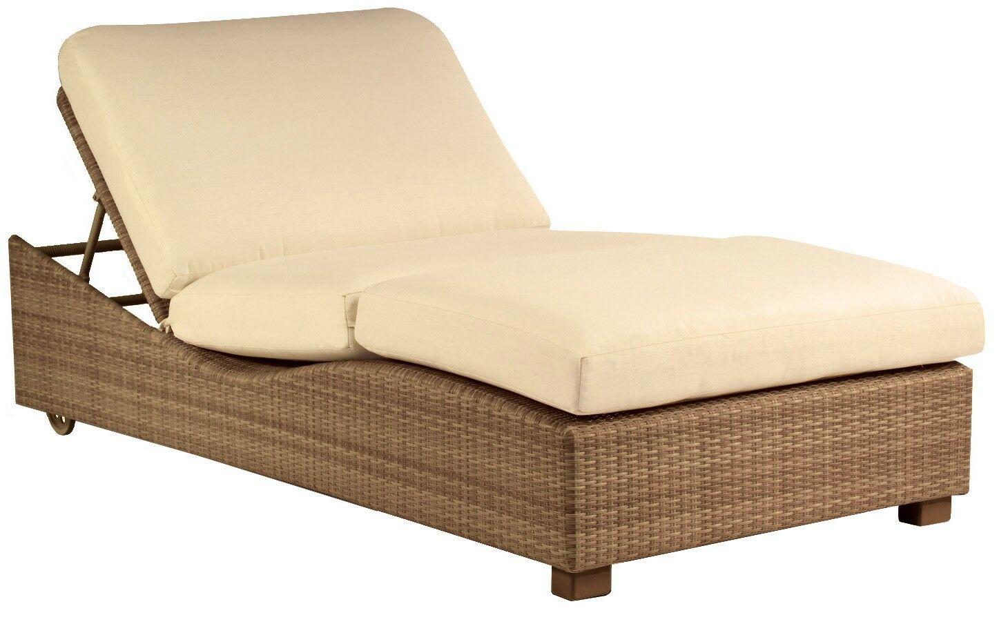 Montecito Double Chaise Lounge Body Fabric: Mojito Wintergreen