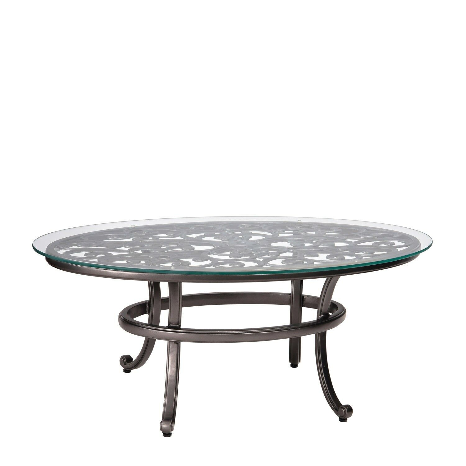 New Orleans Coffee Table with Glass Top Frame Color: Chestnut Brown