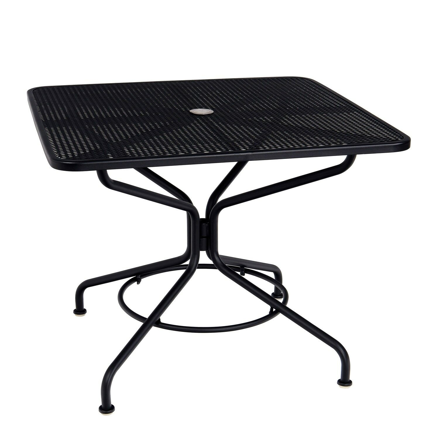 Mesh Top Dining Table Frame Color: Textured Black