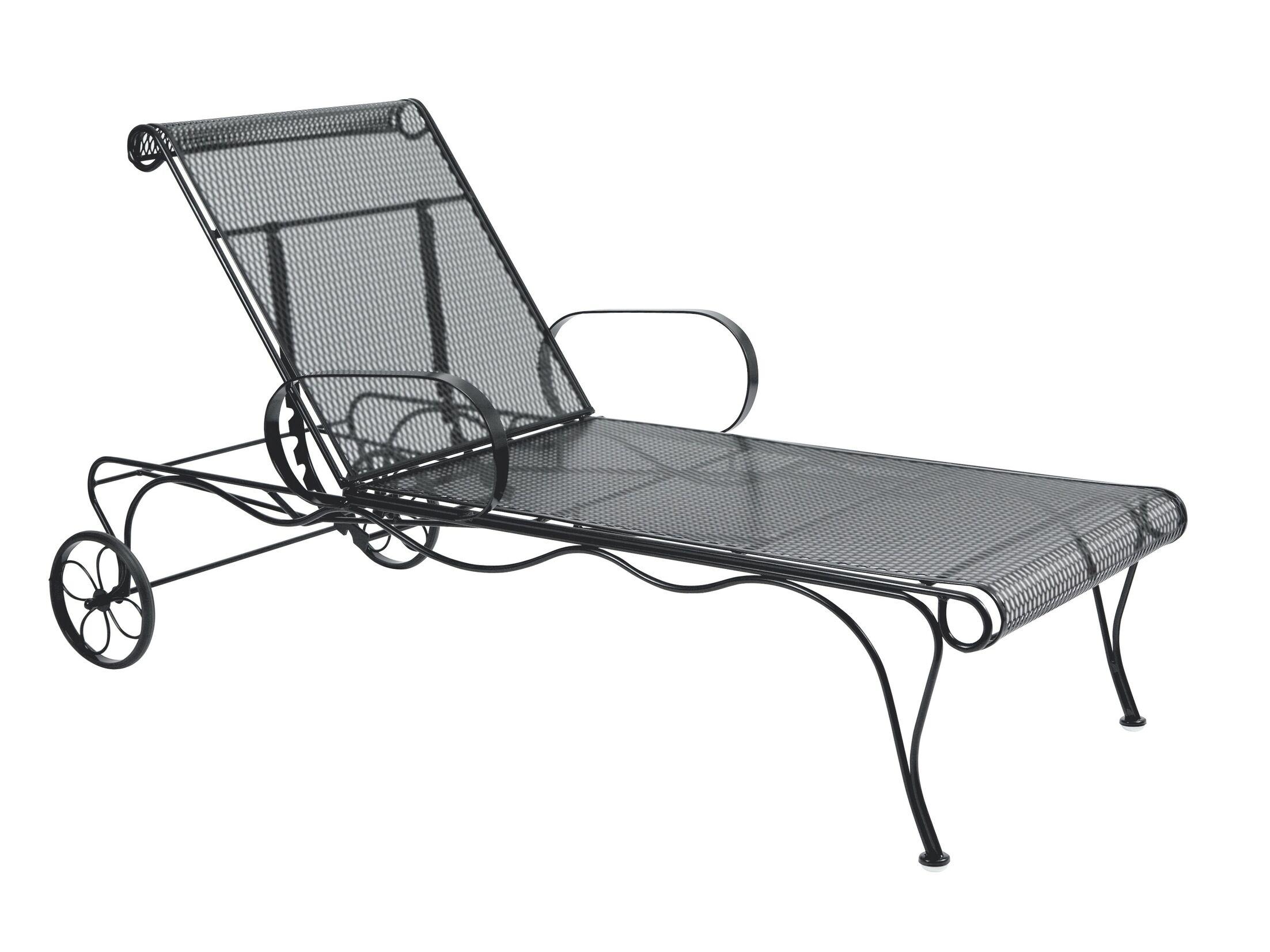 Tucson Adjustable Chaise Lounge Frame Color: Chestnut Brown