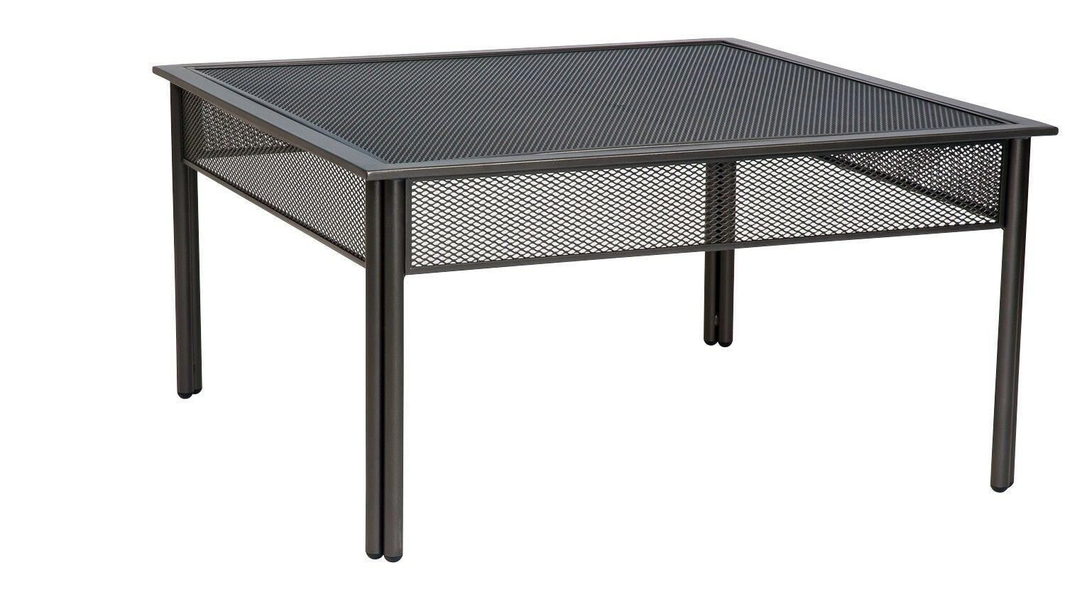 Jax Square Coffee Table Frame Color: Pewter Finish