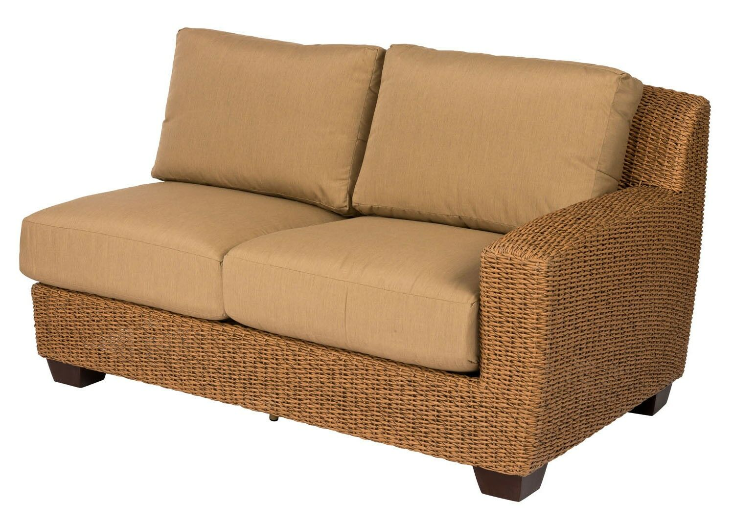 Saddleback Right Arm Loveseat with Cushions Cushion Color: Axis Smoke