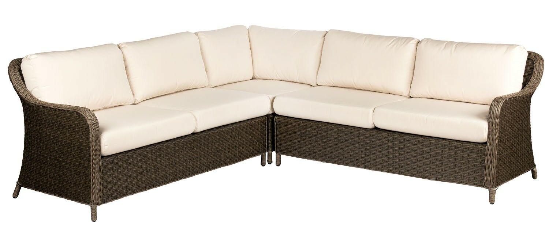 Savannah Patio Sectional Cushion Color: No Cushion