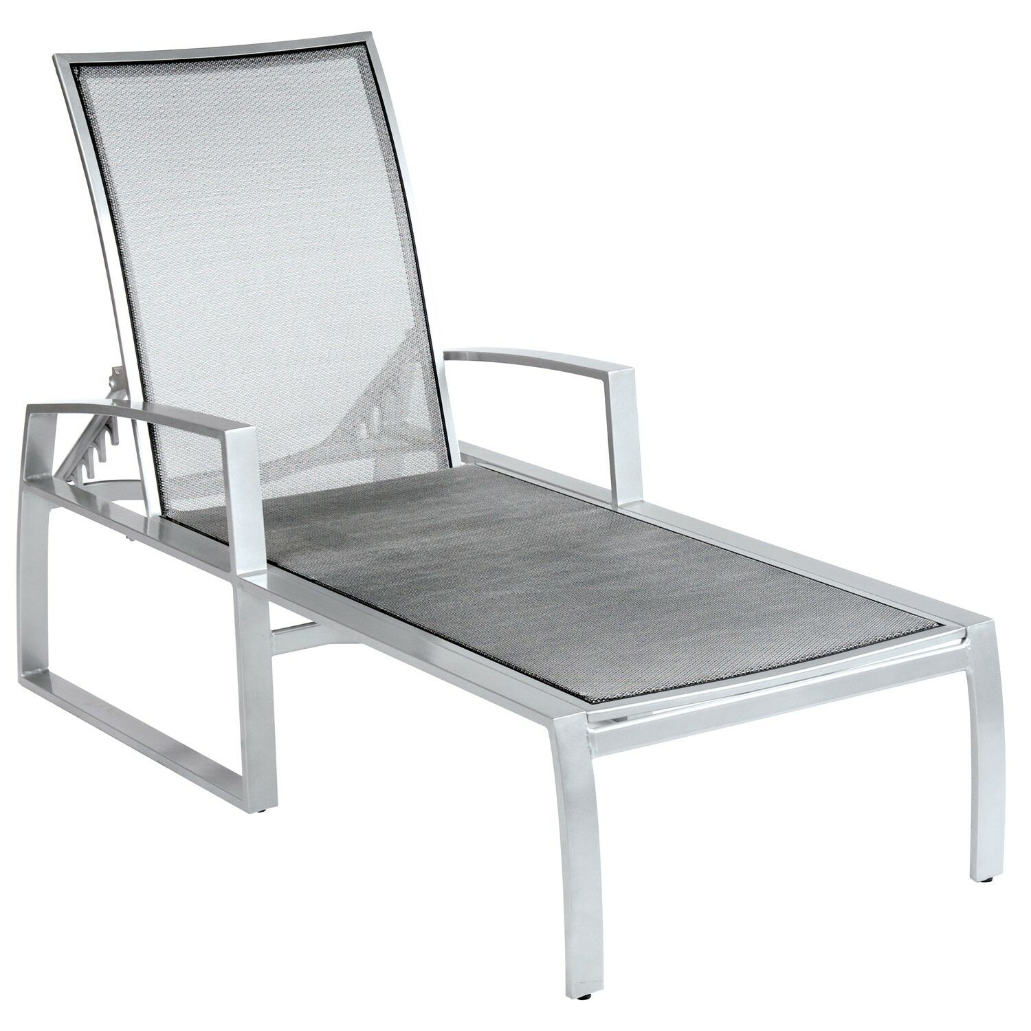 Wyatt Flex Sling Adjustable Chaise Lounge Frame Color: Weathered White