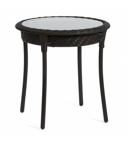Barlow Round Side Table Frame Color: Dark Roast
