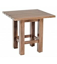 Woodlands Aluminum End Table Frame Color: Weathered White