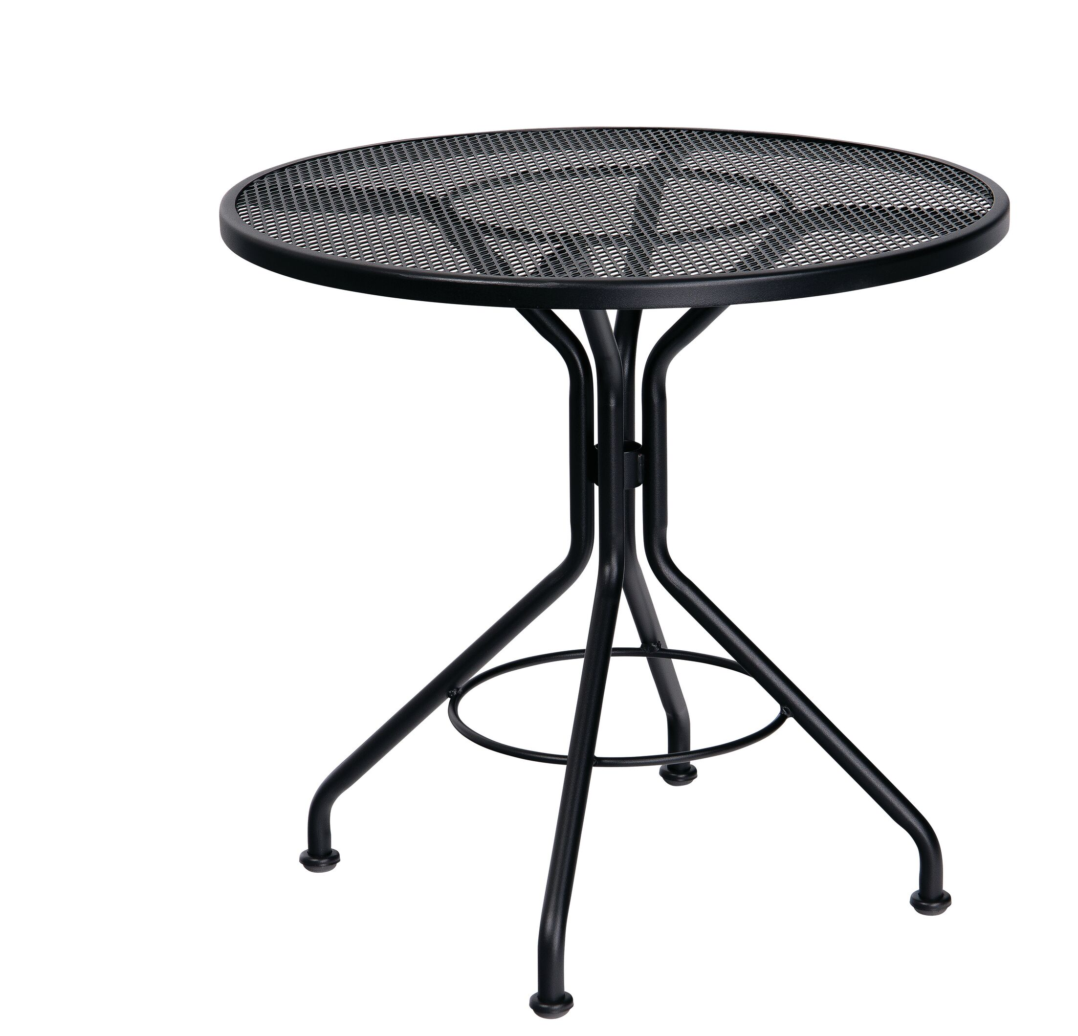 Mesh Top Contract Round Wrought Iron Dining Table