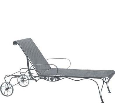 Briarwood Reclining Chaise Lounge Finish: Hammered White