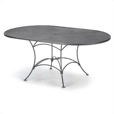 Mesh Top Set-Up Oval Wrought Iron Dining Table Finish: Hazelnut