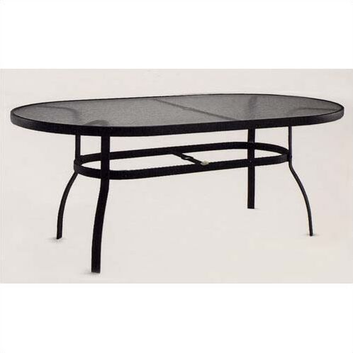 Deluxe Obscure Glass  Dining Table Finish: Graphite, Umbrella Hole: Yes