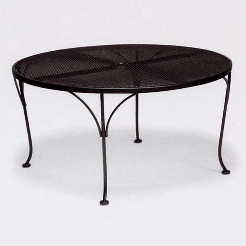 Mesh Top Round Chat Dining Table Finish: Hammered White