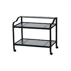 Deluxe Obscure Bar Serving Cart Finish: Midnight