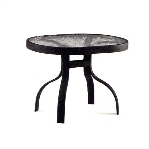 Deluxe Obscure Glass Aluminum Side Table Finish: Textured Cypress