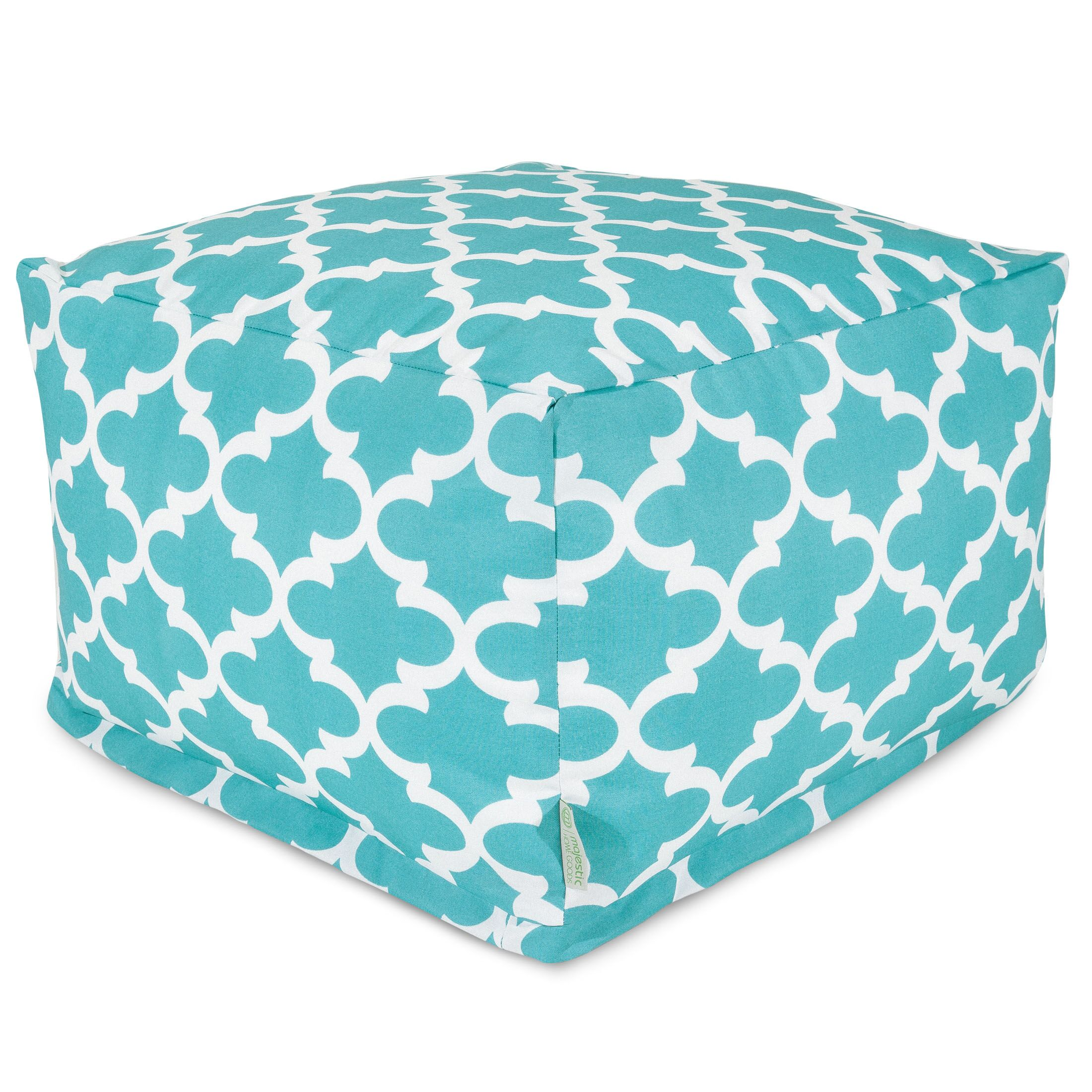 Cashwell Large Ottoman Fabric: Teal