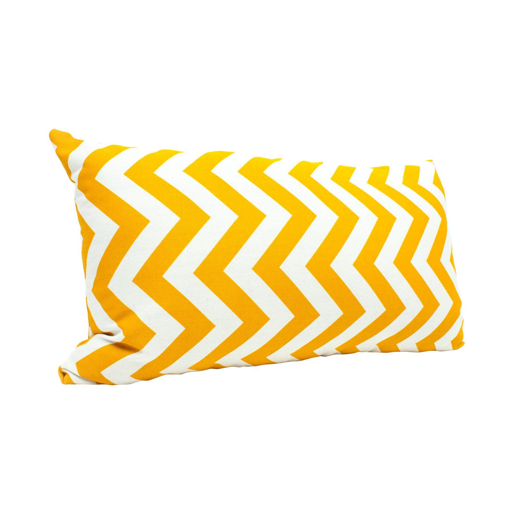 Zig Zag Lumbar Pillow Color: Yellow