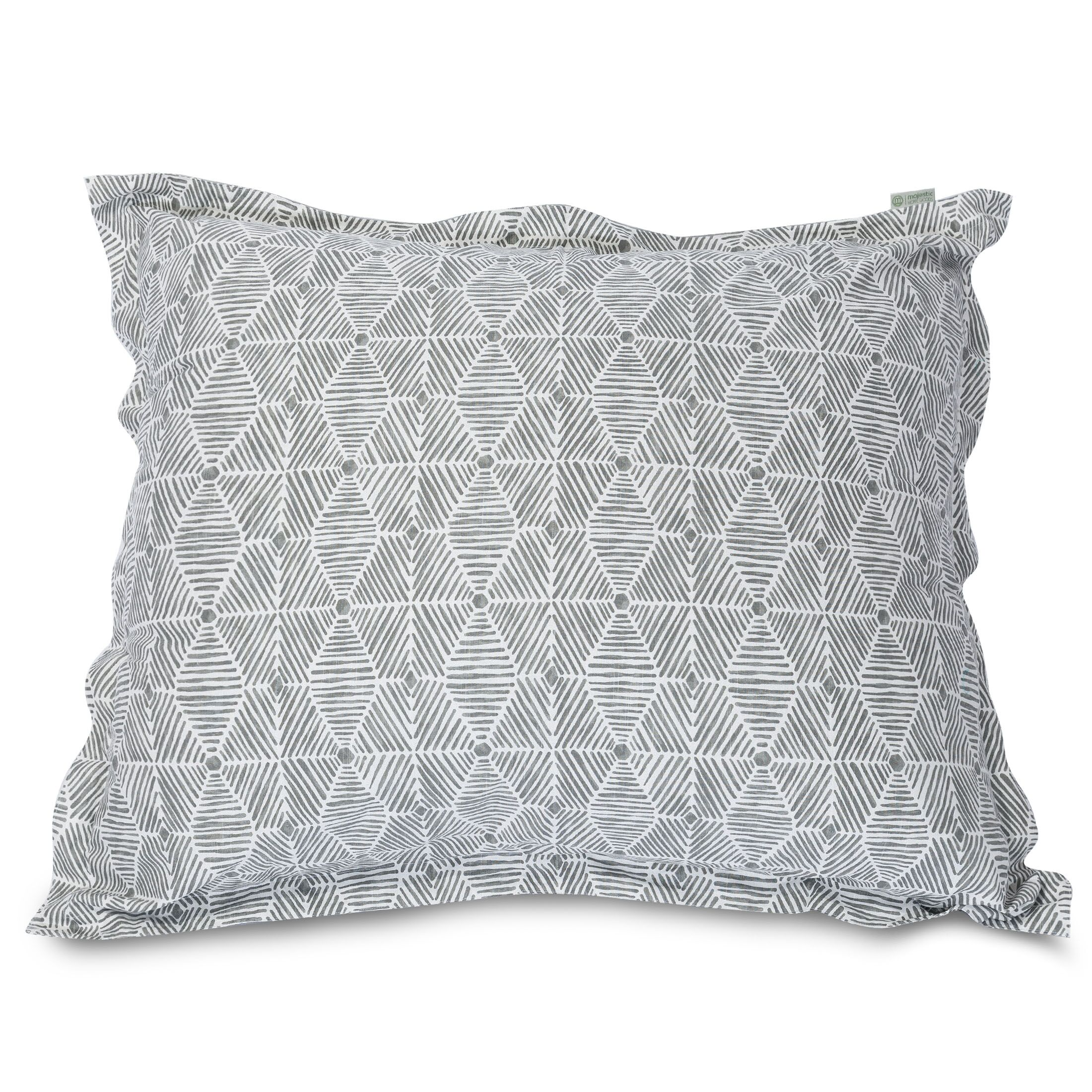 Charlie Floor Pillow Color: Gray