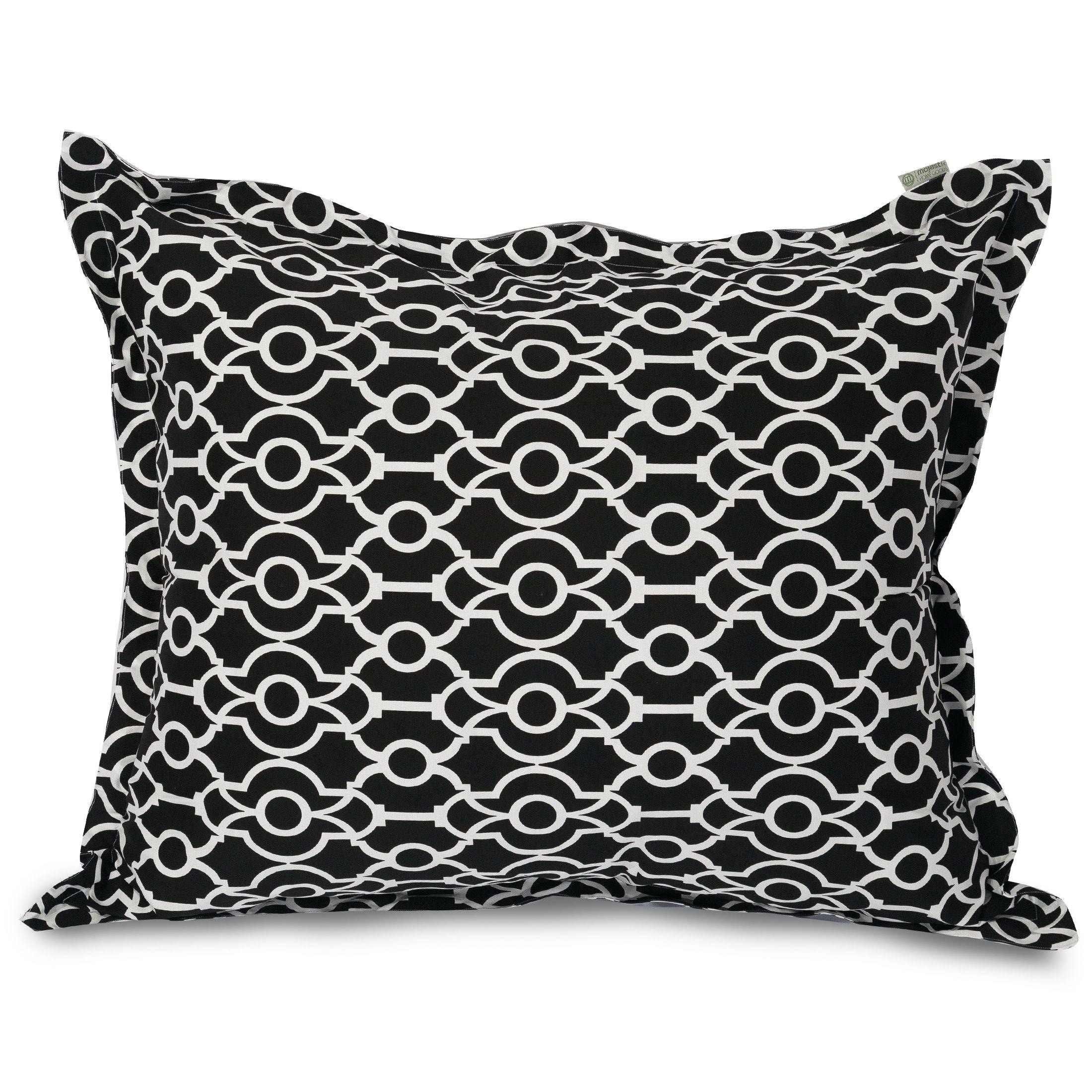Athens Floor Pillow Color: Black