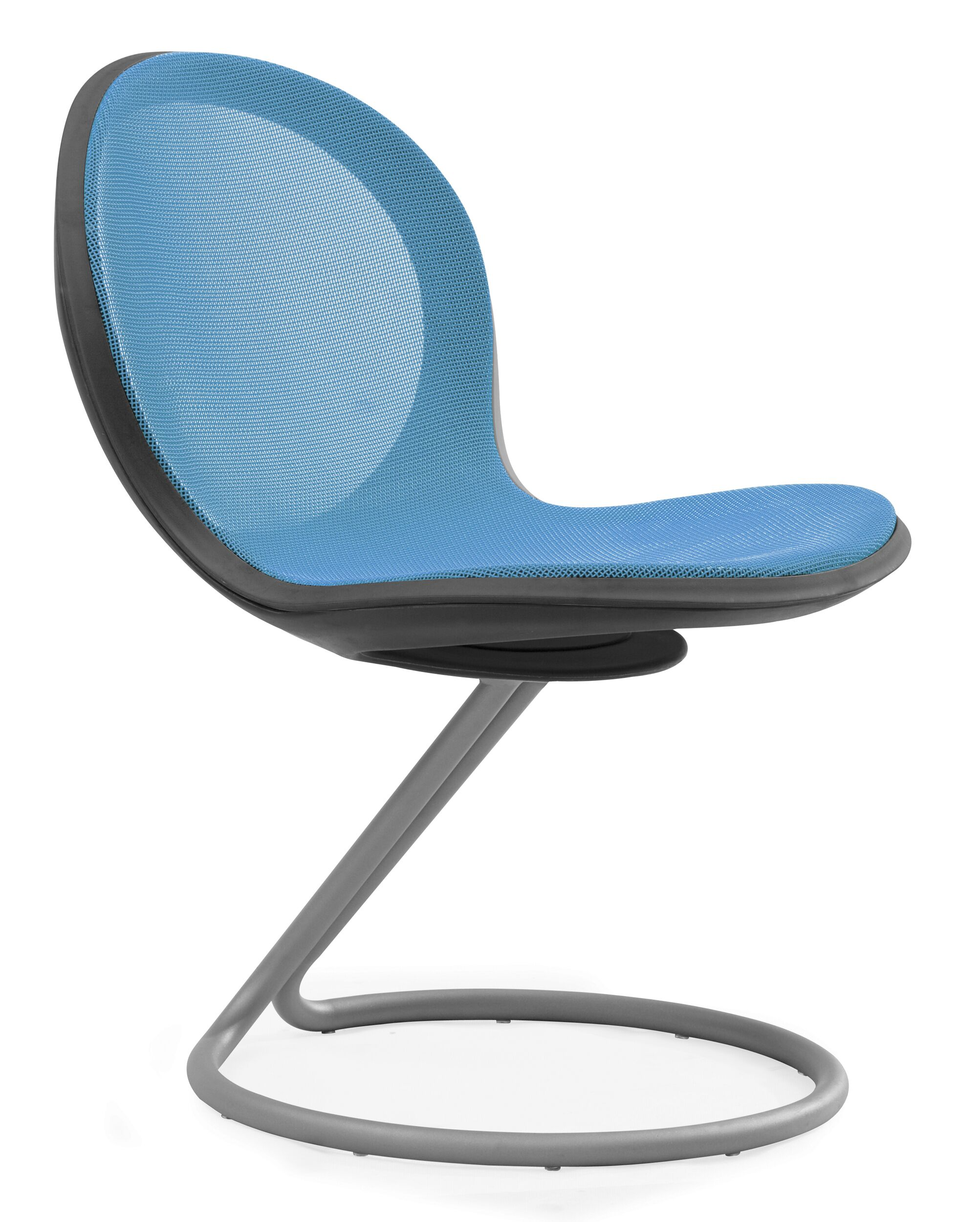 Net Round Base Guest Chair (Set of 2) Color: Skyblue