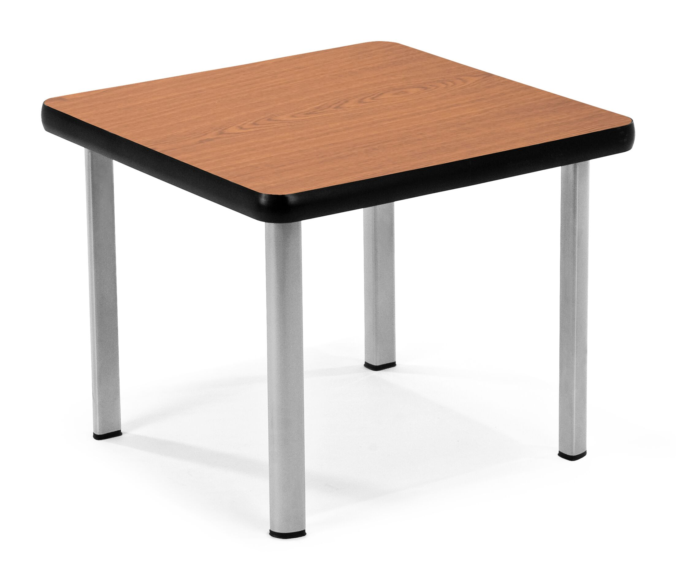 End Table Base Color: Silver, Top Color: Cherry