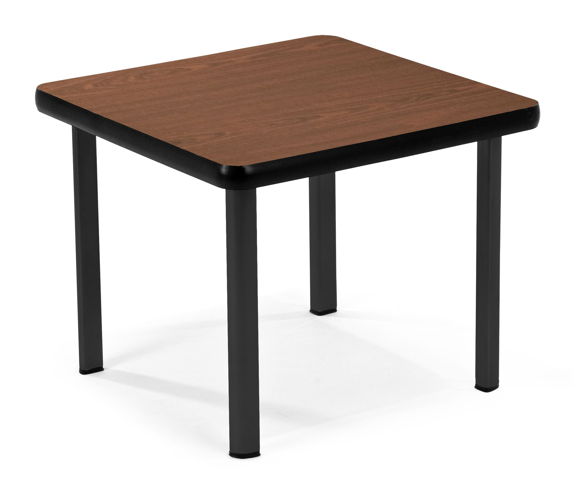 End Table Base Color: Black, Top Color: Mahogany