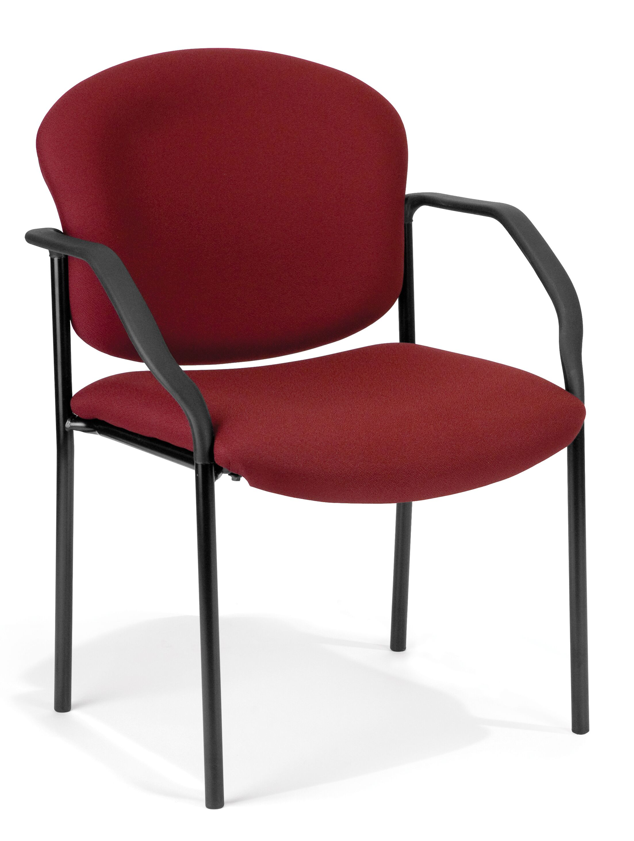 Manor Series Deluxe Upholstered Stacking Guest Chair Seat Finish: Fabric/Wine