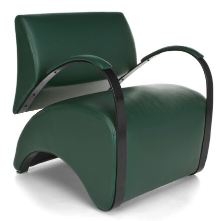 Recoil Lounge Chair Color: Green