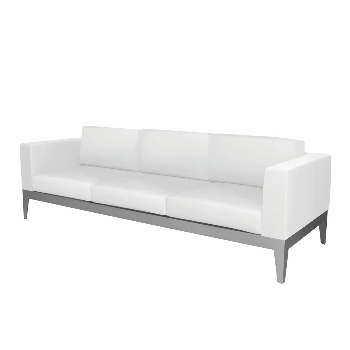 Angelina Sofa with Cushion Fabric: Sunbrella Buttercup