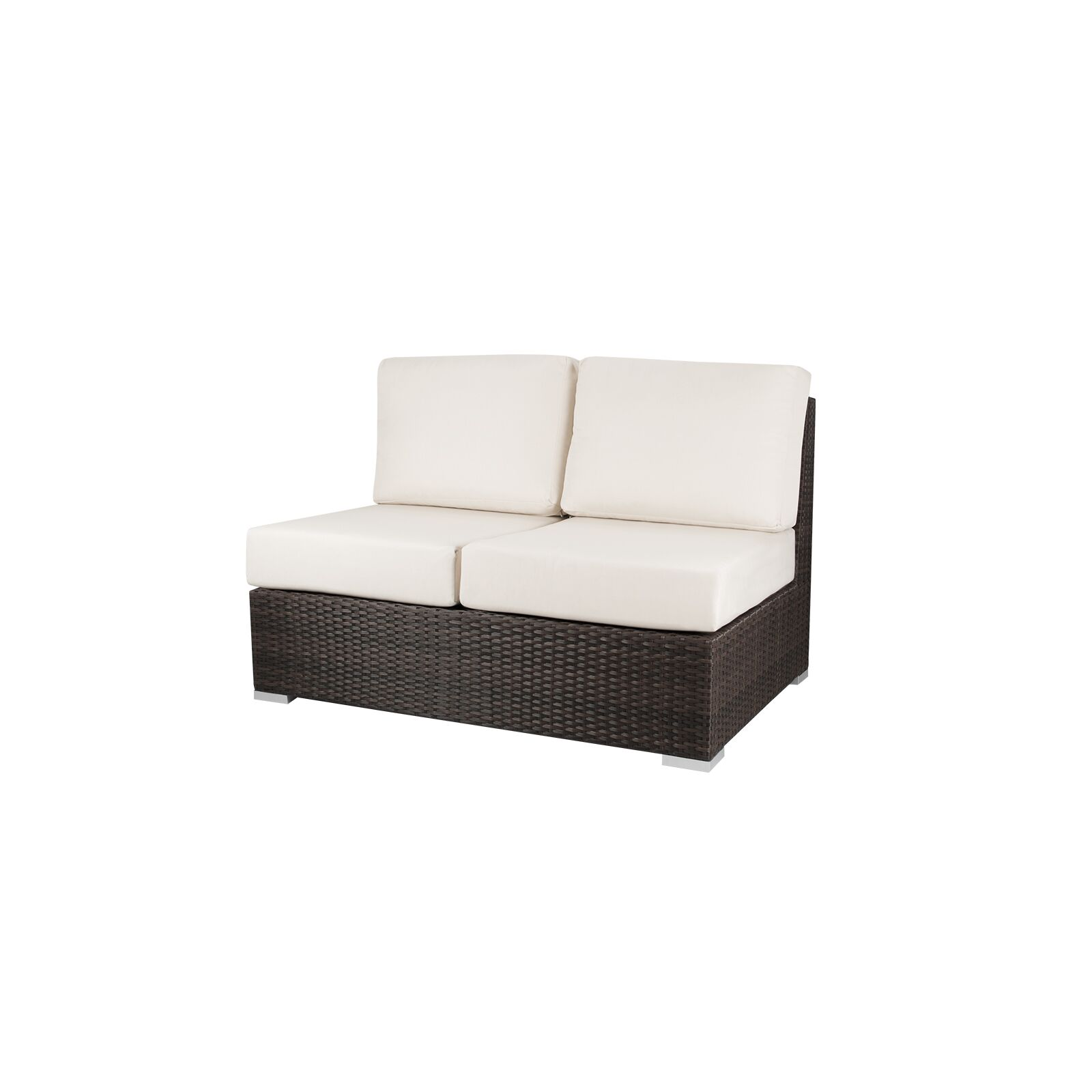 Carnegie Armless Loveseat with Cushions Fabric: Sunbrella Natural
