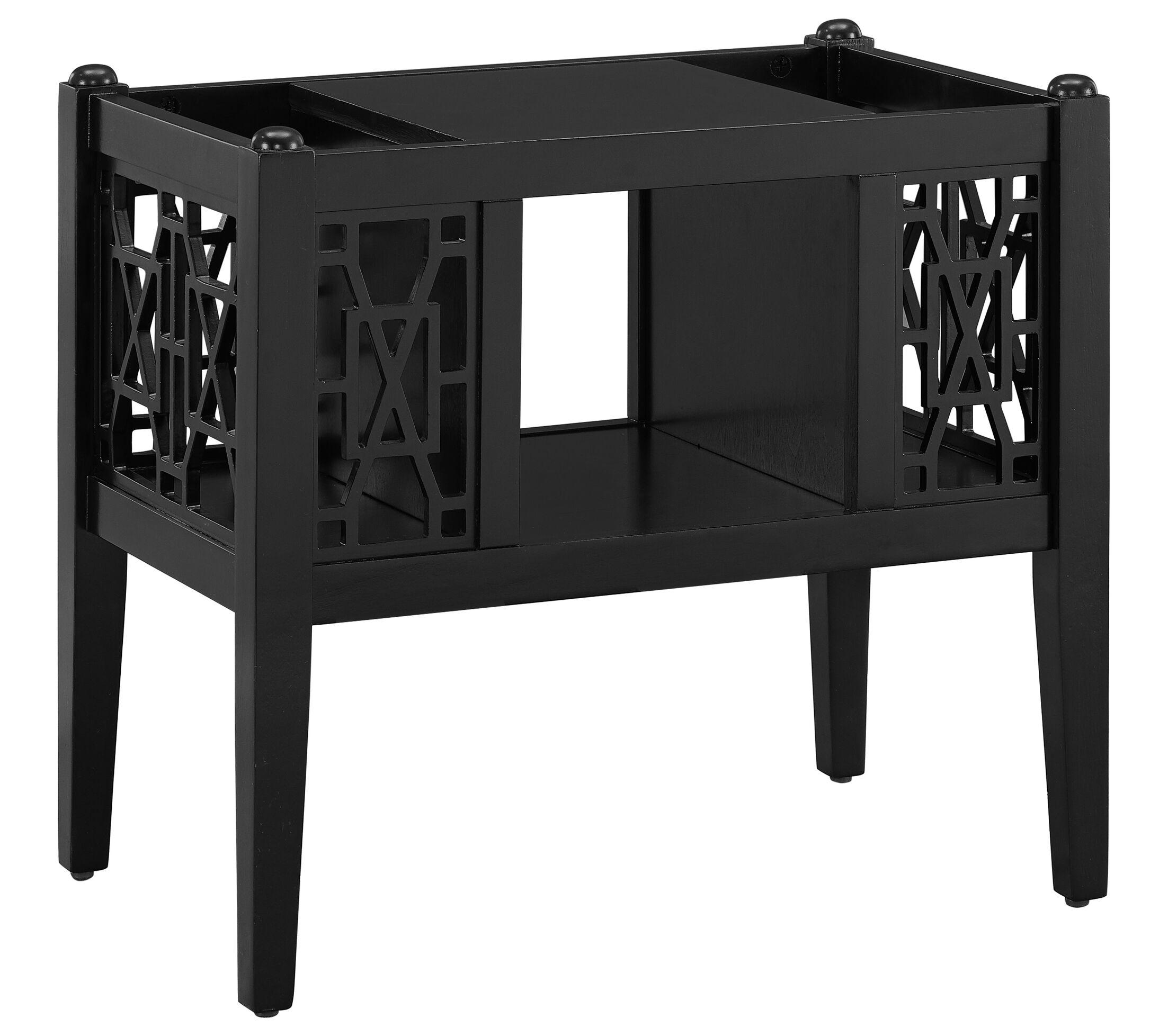 Alfort End Table Color: Black