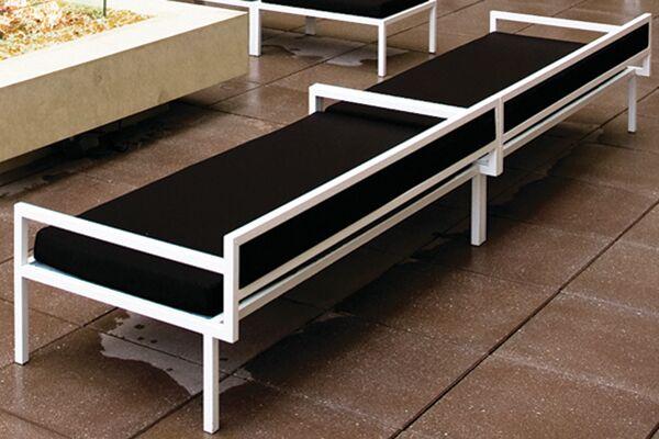 Talt Patio Sofa with Cushions Sofa Finish: Powder Coated Steel, Sofa Fabric: Chocolate