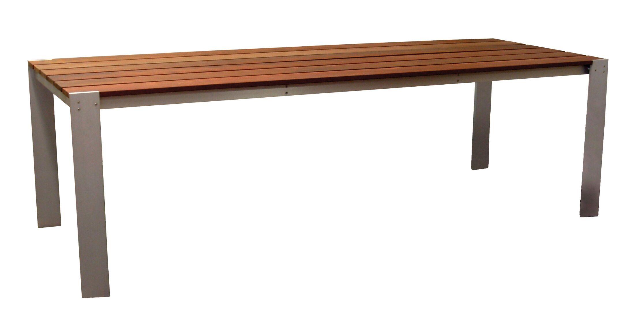 Luma Aluminum Dining Table Table Size: 34