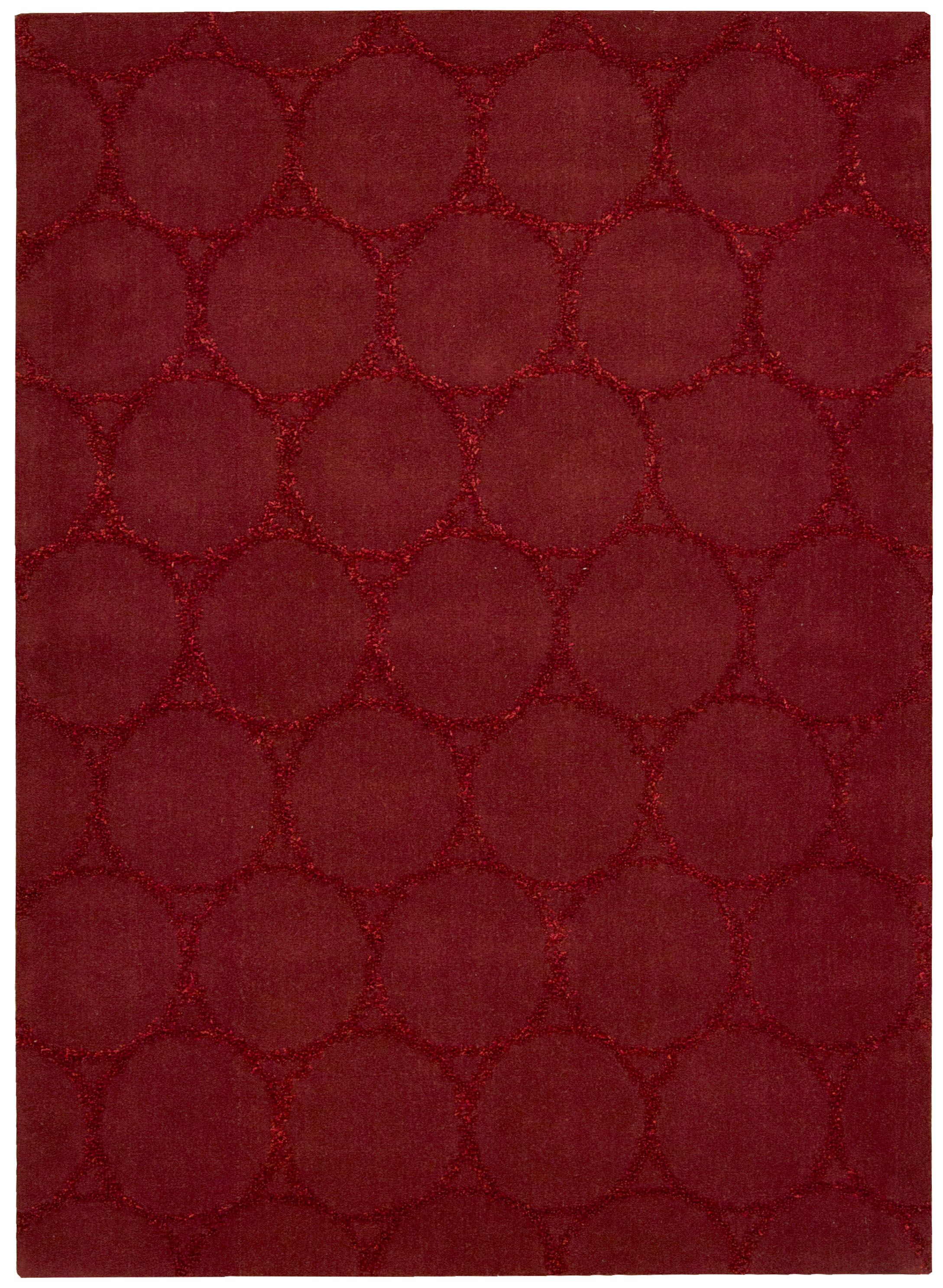 Rochon Hand-Woven Red Area Rug Rug Size: Rectangle 3'6