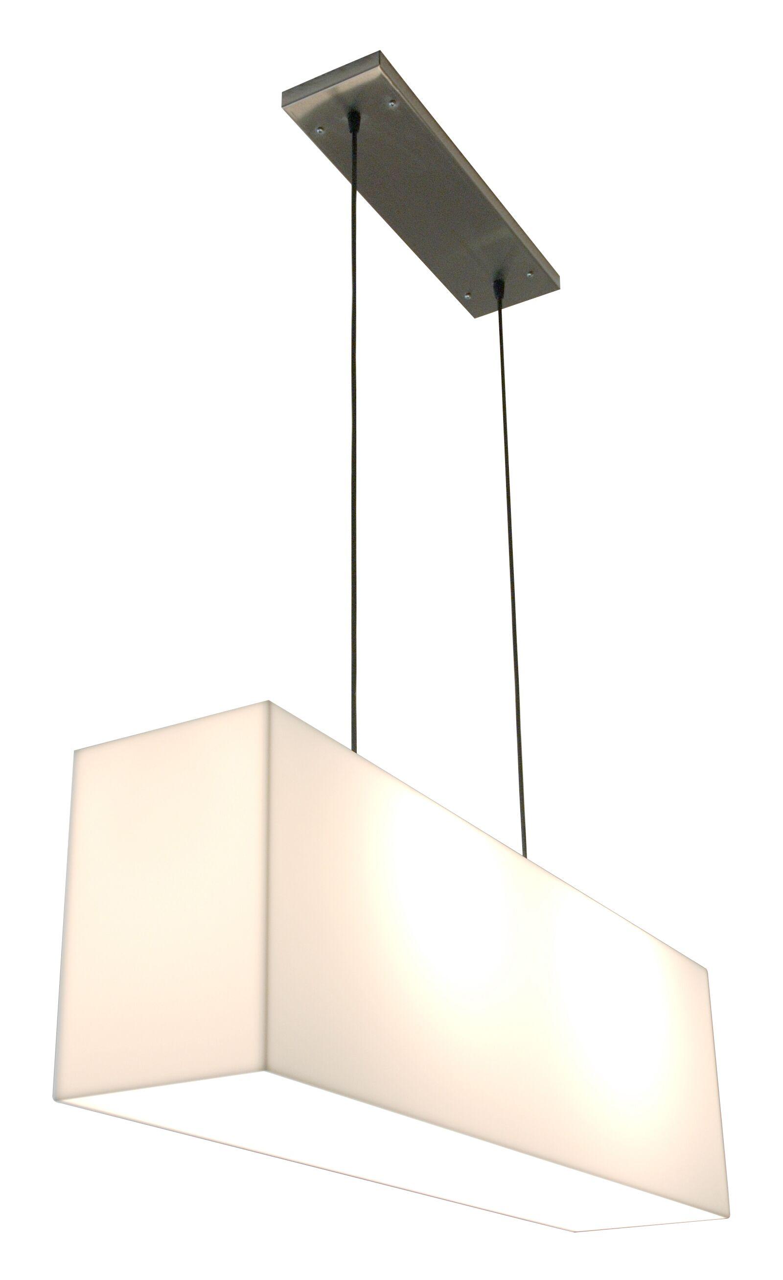 White Acrylic Hanging Lamp Finish: White Shade