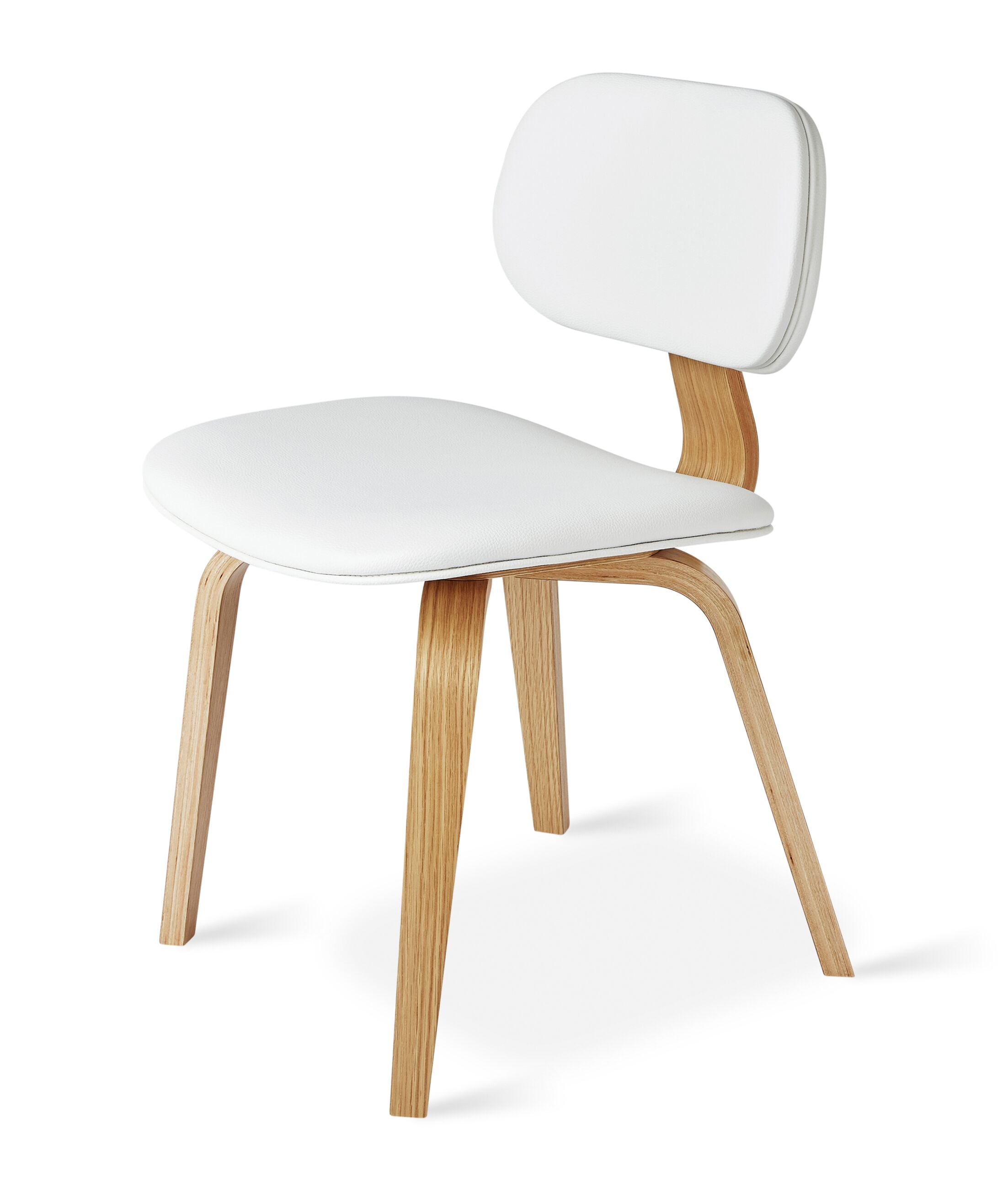 Thompson Side Chair Finish: Natural, Upholstery Color: White