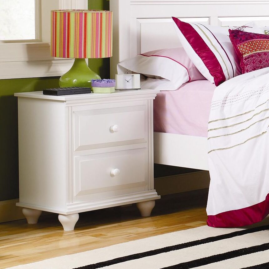 Madison 2 Drawer Nightstand Color: White