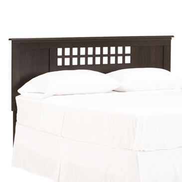 Bayfield Panel Headboard Color: Espresso Maple, Size: Queen