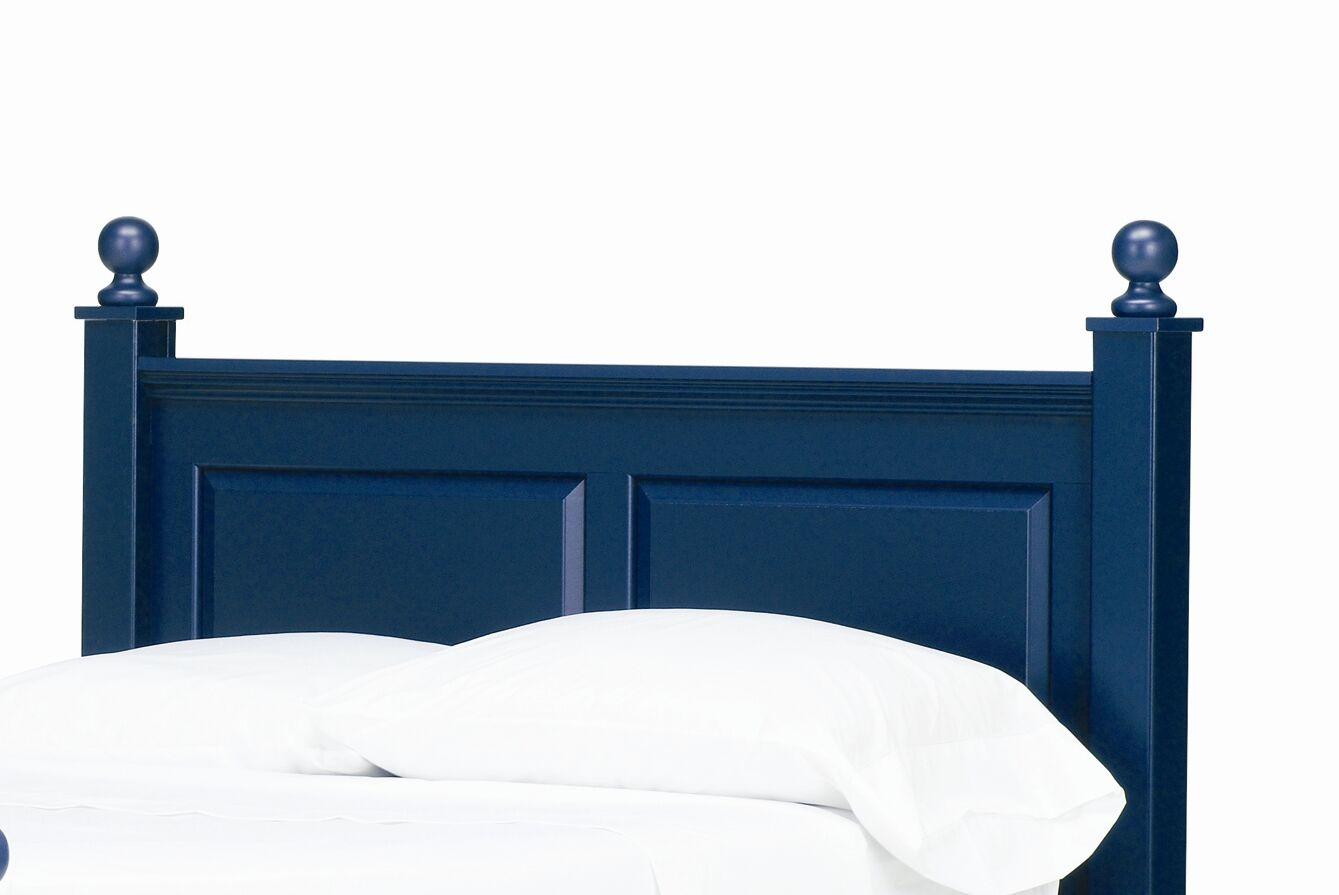 Madison Panel Headboard Size: Twin, Color: Indigo Blue