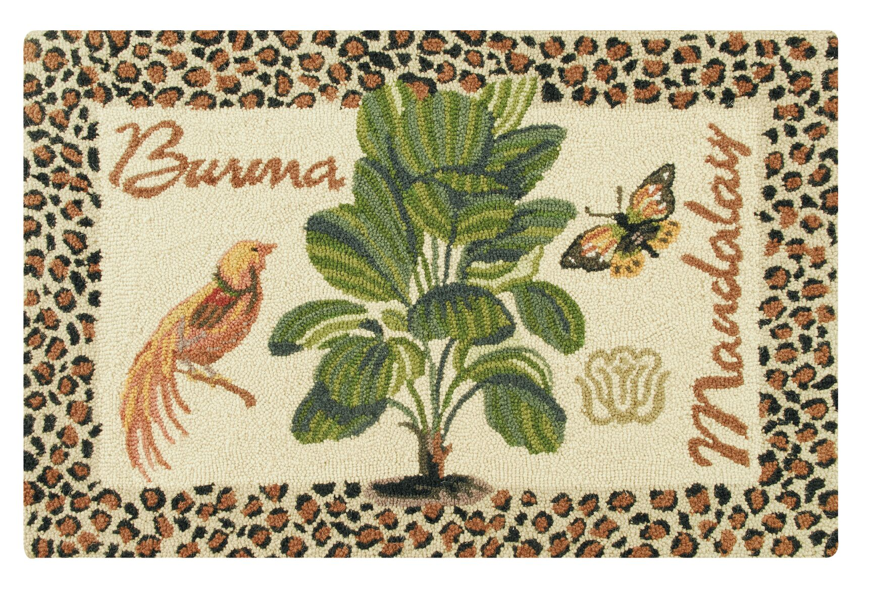 Rockcrest Burma and Mandalay Wool Brown Area Rug
