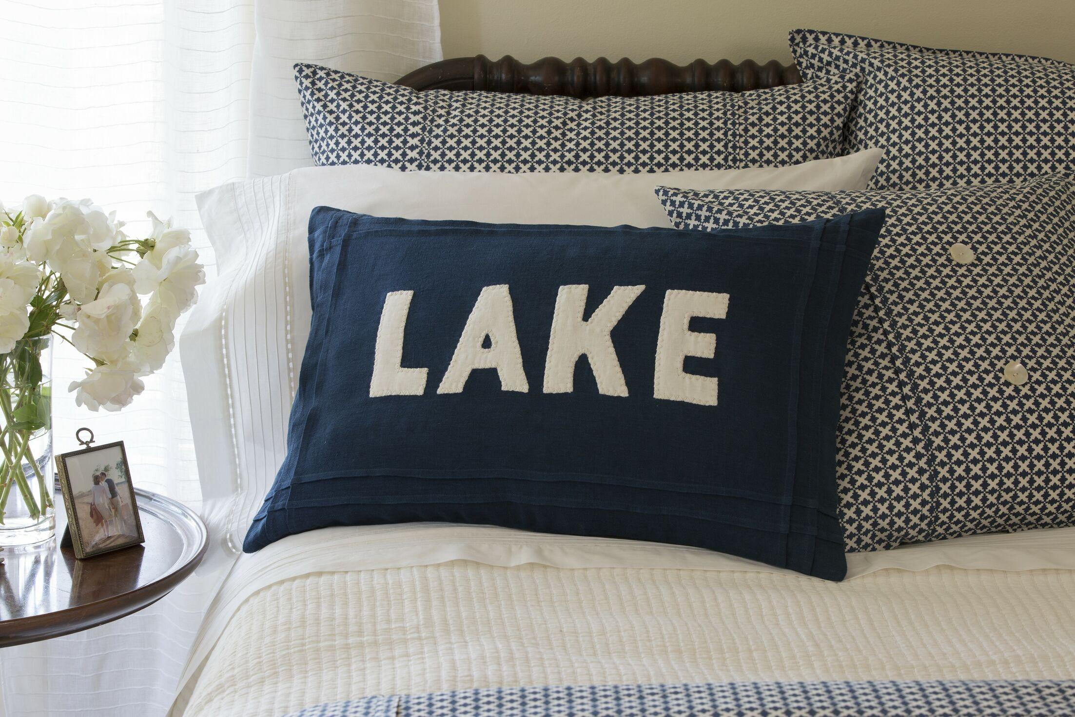 Lake Linen Lumbar Pillow