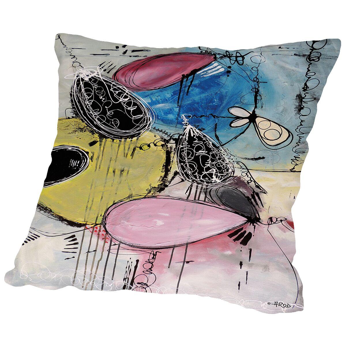 Motus 109 Throw Pillow Size: 14