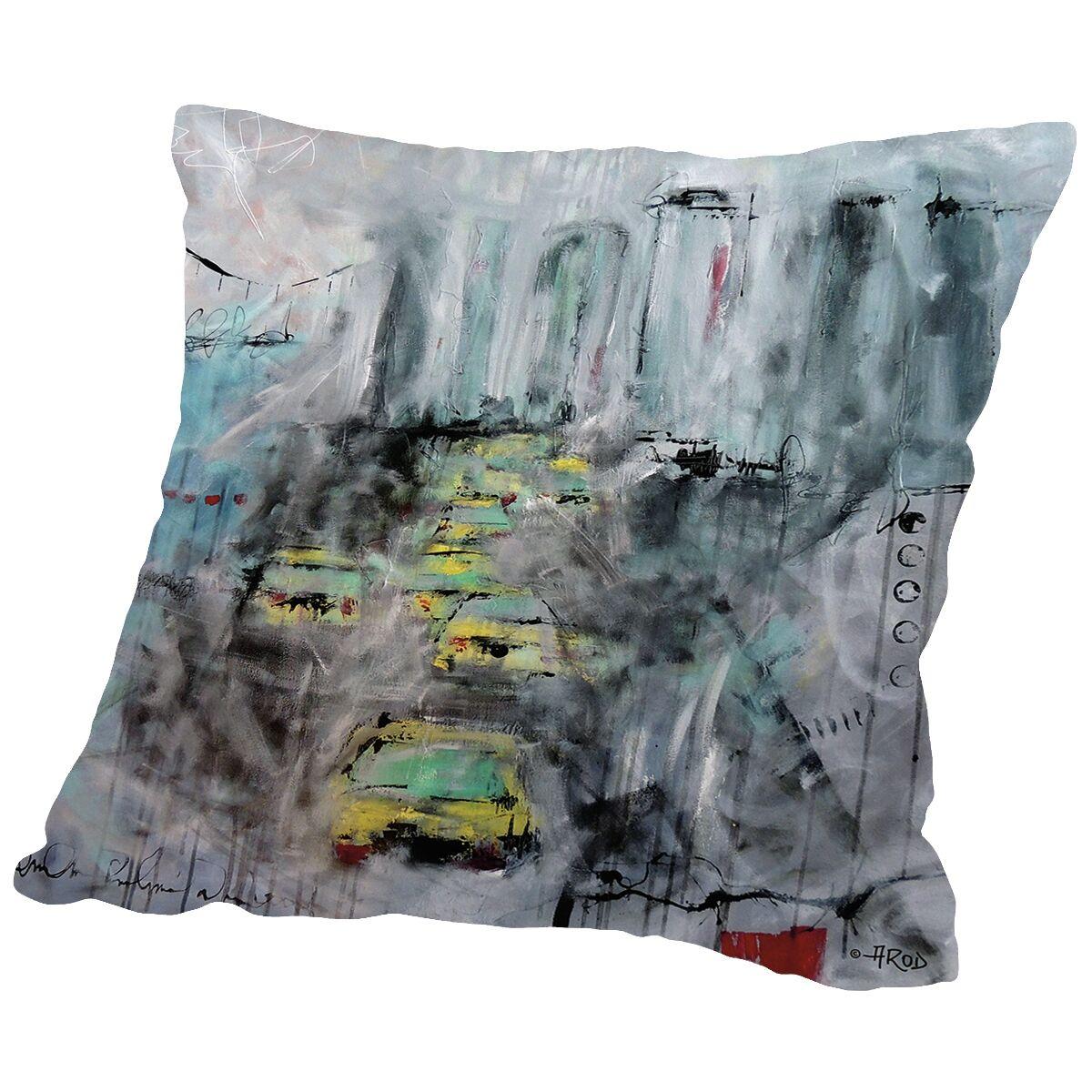 Urbanite-U 5 Throw Pillow Size: 16