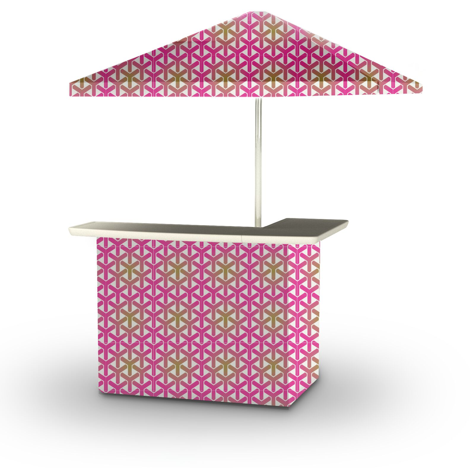 5 Piece Patio Home bar Finish: Gold/Pink/White