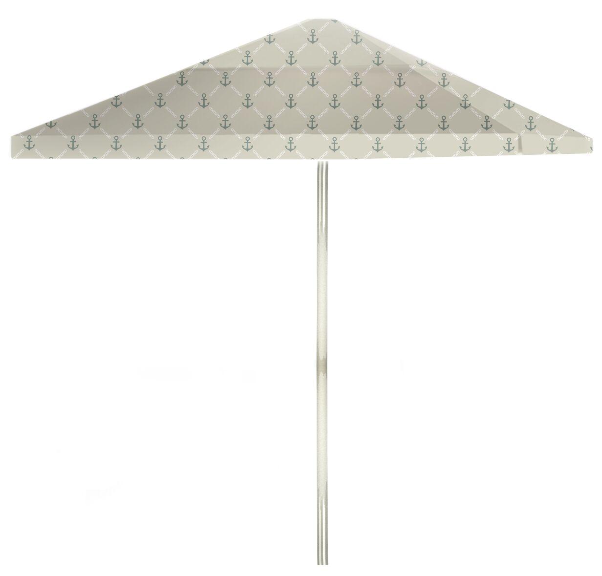6' Square Market Umbrella Color: Gray/Gray