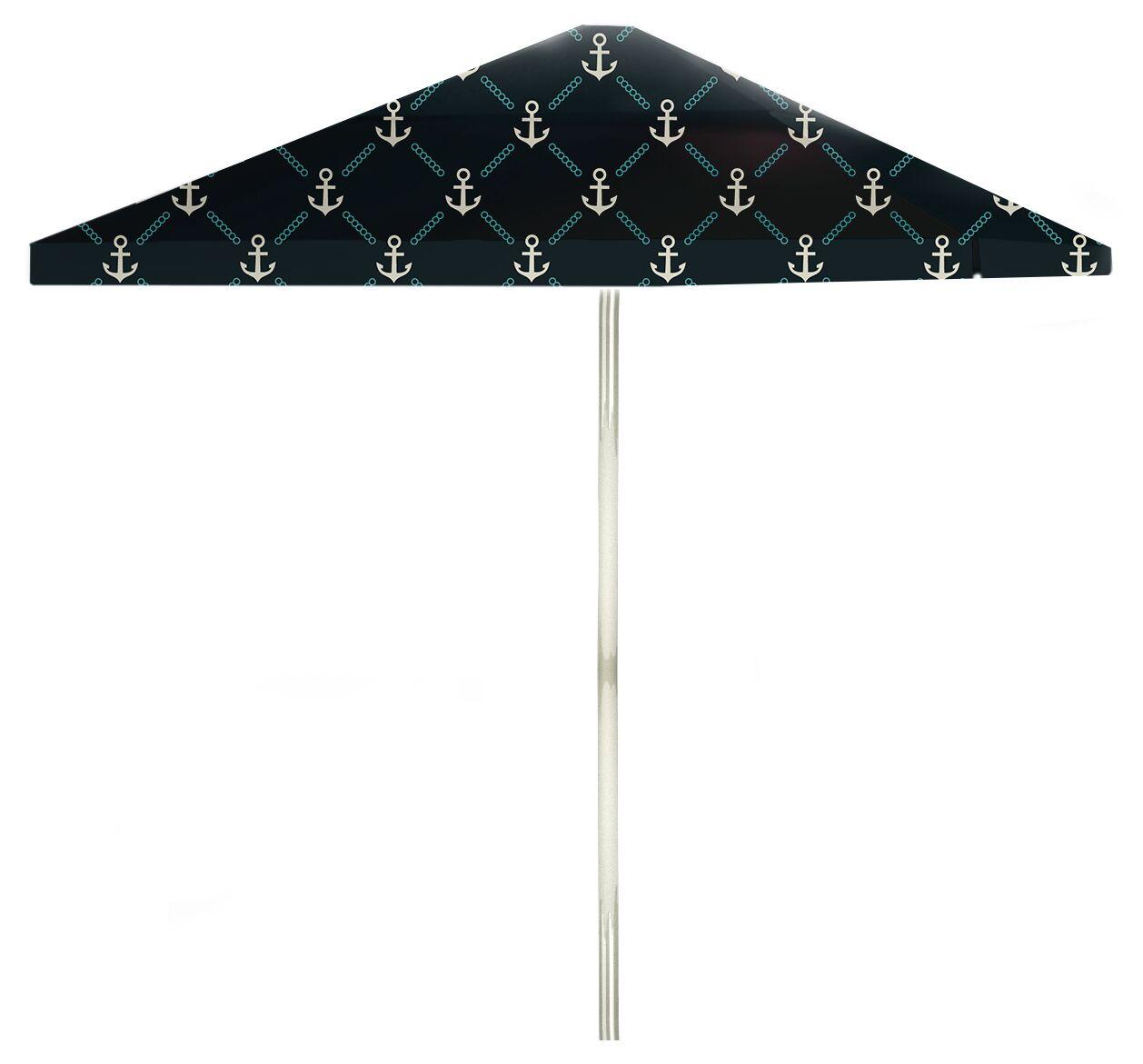 6' Square Market Umbrella Color: Gray/Teal/Navy