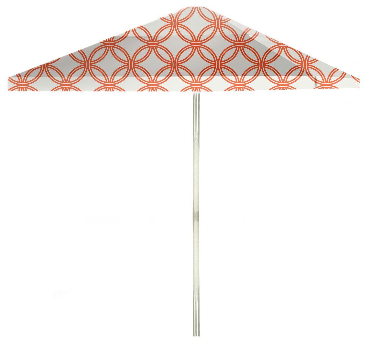 6' Square Market Umbrella Color: Orange/White